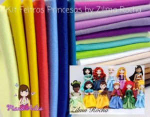 KIT FELTROS - PRINCESAS by ZILMA ROCHA