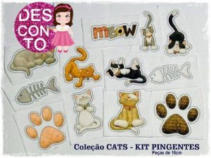 SCRAP FELT CATS - KIT PINGENTES