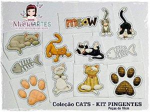 SCRAP FELT CATS - KIT PINGENTES