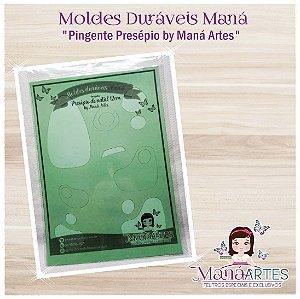 Moldes Duráveis - PINGENTE PRESÉPIO by Maná Artes