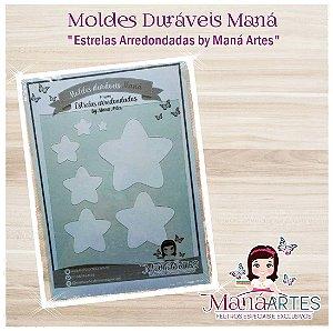 Moldes Duráveis - ESTRELAS ARREDONDADAS by Maná Artes