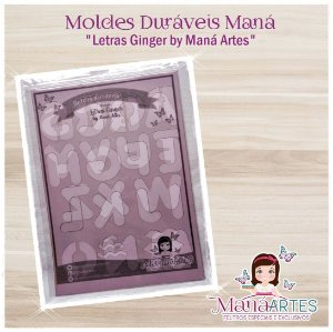 Moldes Duráveis - LETRAS GINGER by Maná Artes