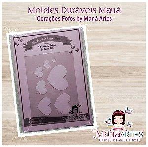 Moldes Duráveis - CORAÇÕES FOFOS by Maná Artes