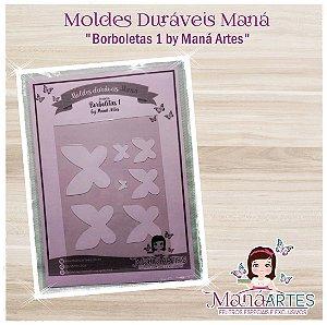 Moldes Duráveis - BORBOLETAS 1 by Maná Artes