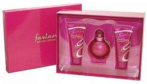 Kit Perfume Britney Spears Fantasy 100 Ml + Gel Para Banho + Creme Hidratante