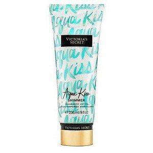 Creme Corporal Victoria Secret Aqua Kiss Shimmer com brilho 236ml