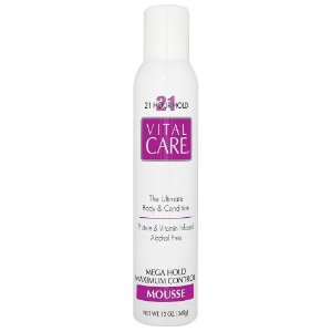 Mousse Fixador Vital Care Super Volume 12, 18 e 21 Hs 340 Gramas