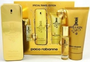 Kit Perfume Paco Rabanne 1 Million 100ml + Gel 100ml + Spray 10ml