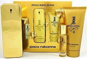 Kit Perfume Paco Rabanne 1 Million 100ml + Gel 100ml + Spray 10ml