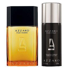 Kit Perfume Azzaro Pour Homme EDT 100ML + Desodorante Spray 150ML