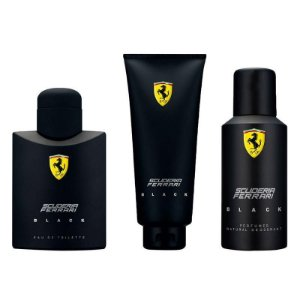 Kit Perfume Ferrari Black 125ml + Desodorante 150ml + Shower Gel 150ml