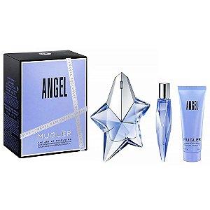 Kit Perfume Thierry Mugler Angel Feminino EDP 50ml + Shower Gel 50ml + Miniatura 10ml