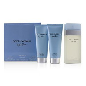 KIT Perfume Dolce & Gabbana Light Blue Feminino EDT 100ml  +  Body Lotion 100ml + Gel 100ml