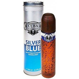 Perfume Cuba Silver Blue Masculino EDT 100ML