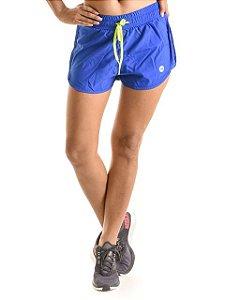 Shorts Mama Latina Running Duplo Action Fast Azul
