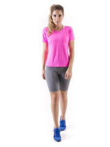 Camiseta Dry Fit Mam Latina Baby Look Pink