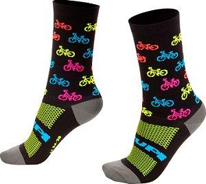 Meia HUPI Bike Colors - LT para pés menores 34-38