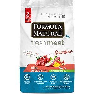 Ração Seca Fórmula Natural Fresh Meat Sensitive Cães Adultos Portes Mini e Pequeno 7kg