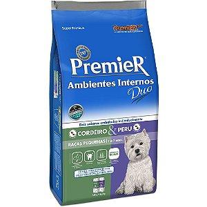Ração Premier Pet DUO Ambientes Internos Cães Adultos Cordeiro e Peru