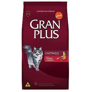 Ração Affinity PetCare Gran Plus Carne e Arroz para Gatos Castrados