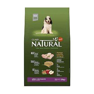 Ração Affinity Guabi Natural Frango e Arroz Integral para Cães Filhotes Raças Média