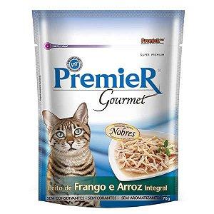 Ração Premier Pet Gourmet Sachê Frango para Gatos Adultos 70g