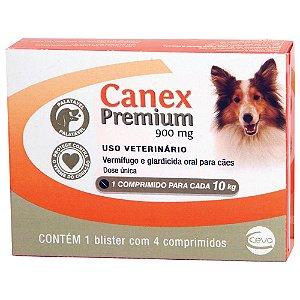 Vermífugo Canex Premium 900 mg para Cães Até 10 Kg