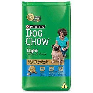 Ração Dog Chow Adultos Light Frango e Arroz Para Cães Adultos