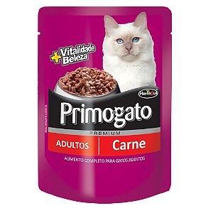 Sachê Primogato Premium Adultos Sabor Carne 85g