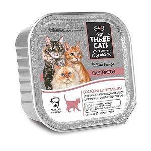 Patê Hercosul Three Cats Gatos Adultos Castrados Patê Frango
