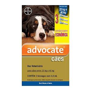 Antipulgas Advocate para Cães entre 25 e 40kg 4,0ml Embalagem Econômica