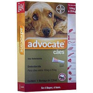 Antipulgas Bayer Advocate para Cães de 10 a 25 Kg 2,5 mL