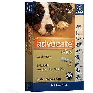 Antipulgas Bayer Advocate Para Cães de 25 a 40 Kg 4,0 mL