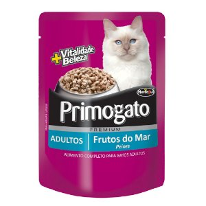 Sachê Primogato Premium Adultos Sabor Frutos do Mar 85g