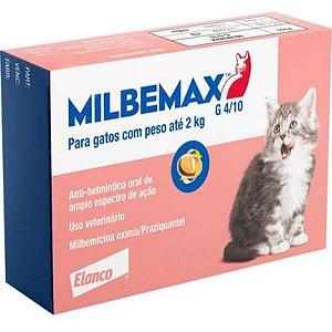 Vermifugo Elanco Milbemax FC para Gatos até 2 Kg 2 Comprimidos