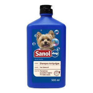 Shampoo Sanol Dog Antipulgas - 500 Ml