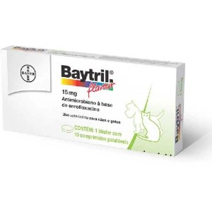 Baytril - 15 Mg- 10- comprimidos