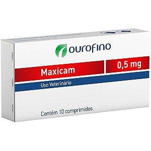 Anti-inflamatório Ourofino Maxicam - 10 Comprimidos 0,5mg