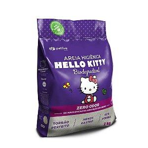 Areia Higiênica Hello Kitty Biodegradável Roxa