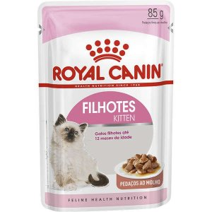 Ração Royal Canin Sachê Feline Kitten Instinctive para Gatos Filhotes com até 12 meses