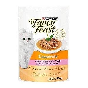 Ração Úmida Fancy Feast Casserole para Gatos Sabor Atum e Salmão 85g