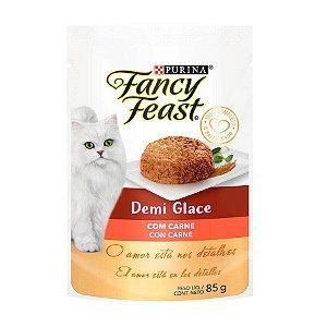 Ração Úmida Fancy Feast Demi Glace para Gatos Sabor Carne 85g