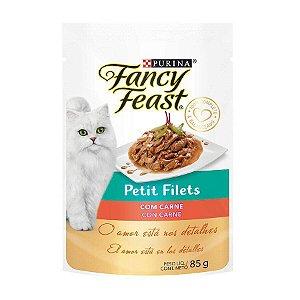 Ração Úmida Fancy Feast Petit Filets para Gatos Sabor Carne 85g