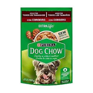 Ração Úmida Nestlé Purina Dog Chow para Cães Adultos Sabor Cordeiro 100g