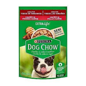 Ração Úmida Nestlé Purina Dog Chow para Cães Adultos Mix de Frango e Carne 100g