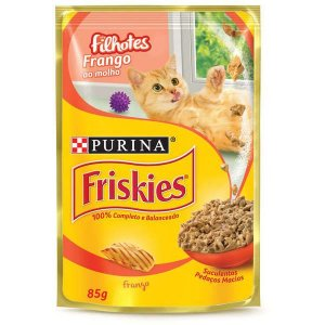 Ração Úmida Nestlé Purina Friskies Sachê Frango ao Molho para Gatos Filhotes