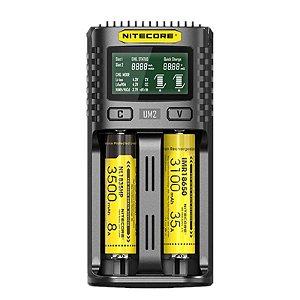 CARREGADOR DUAL UMS2 LCD - NITECORE