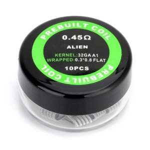 PREBUILT ALIEN 0.45Ω PACK COM 10 - COIL'S PREBUILT COIL