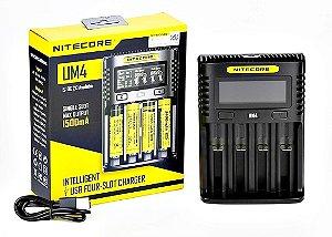 CARREGADOR UM4 LCD USB - NITECORE