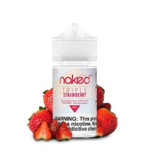 LÍQUIDO TRIPLE STRAWBERRY FUSION - NAKED 100